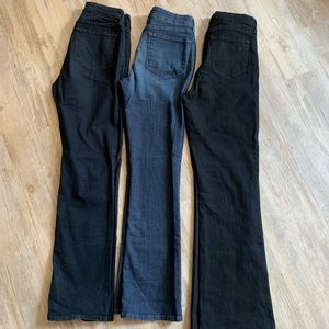 3 PAIRS NYDJ Bundle size 8 Billie Bootcut Marilyn